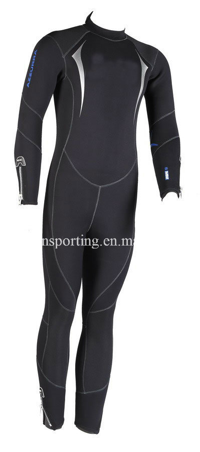 High Quality Neoprene Diving Suit with Ultra Stretch Black Nylon (HXL0002)