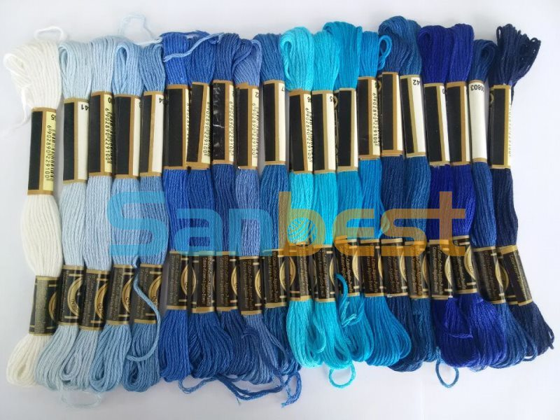 High Tenacity Cotton Floss Thread for Cross Stitch