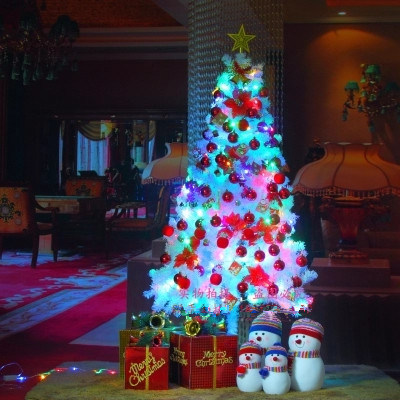 Wholesale Christmas Decoration 120cm /150cm/ 180 Cm Encryption White Snow 180cm Christmas Tree with Variou Accessories and LED Light