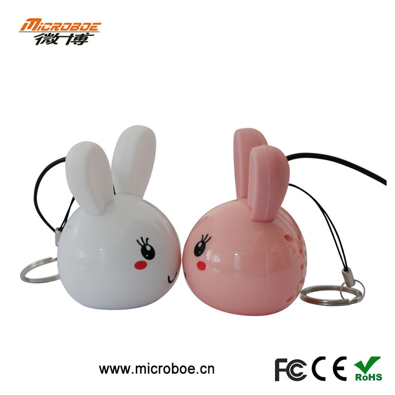 Portable Mini Speaker Animal Face for Smartphones, Bluetooth Speaker (FCC CE RoHS)