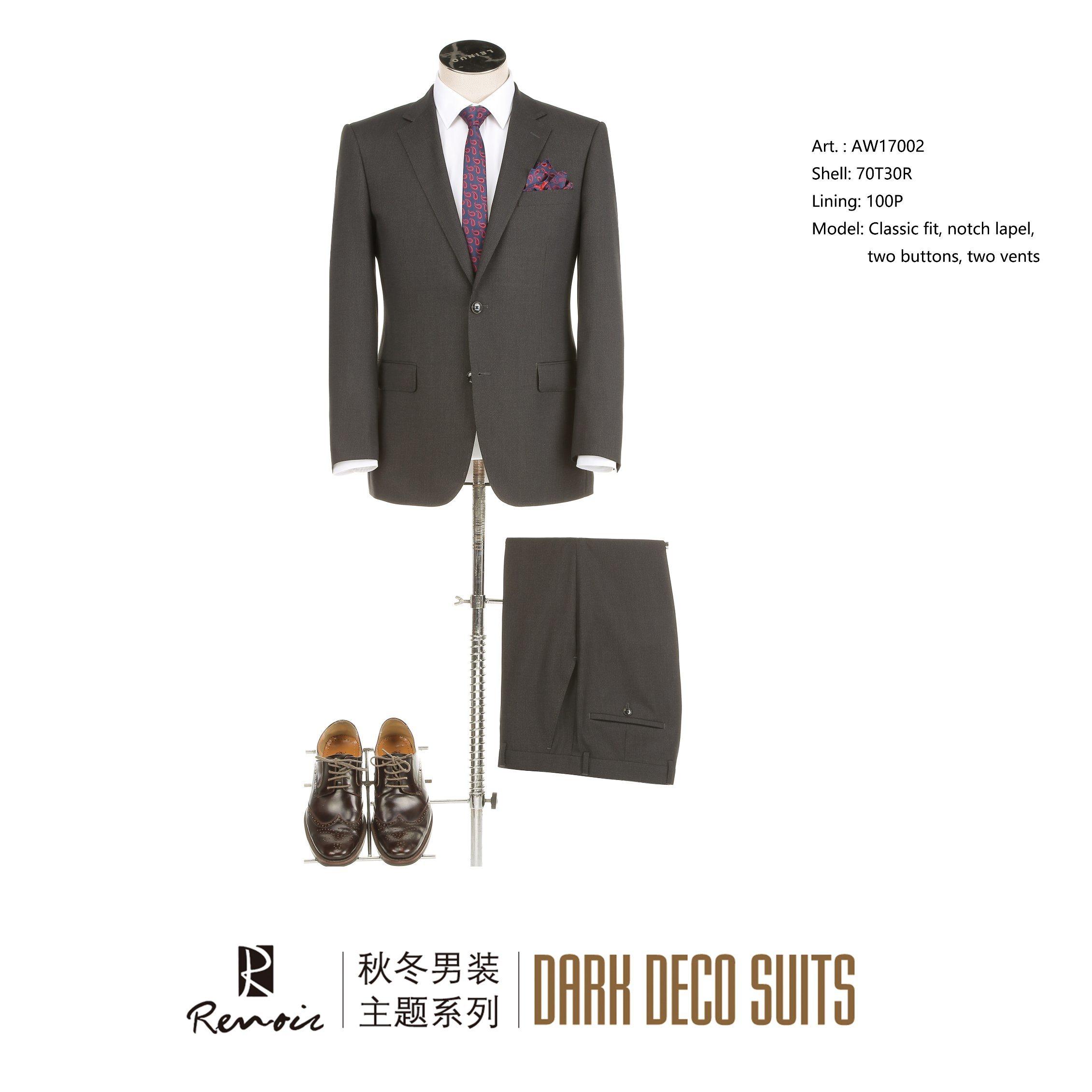 OEM 2 Piece Classic Fit Two Buttons Men′s Business Suit