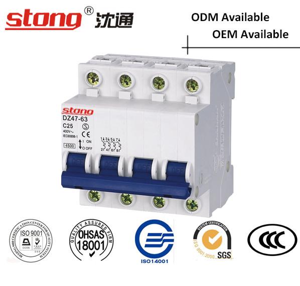 High Quality C45 Vacuum Mini Circuit Breaker 4p
