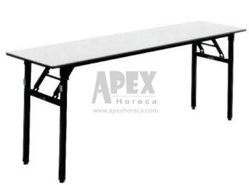 Wooden Folding Rectangular Table Restaurant Furniture Even Table