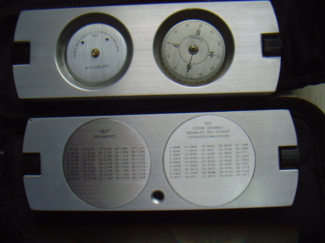 Clinometer Compass Tool and Surveying Compass/Satellite Compass #T-45-CC