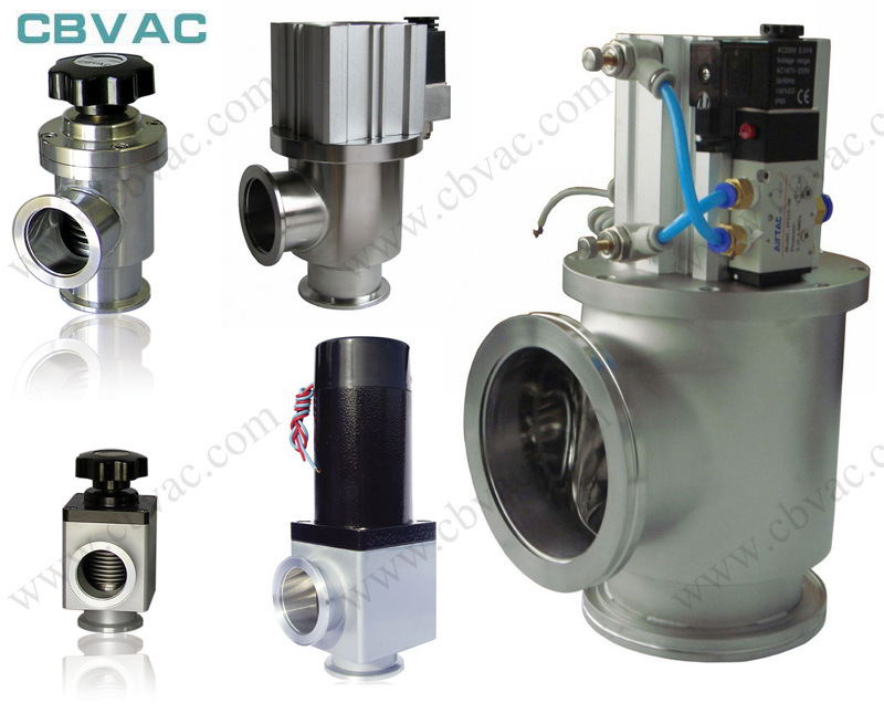 Sanitary Stainless Steel Angle Type High Vacuum Flapper Valve