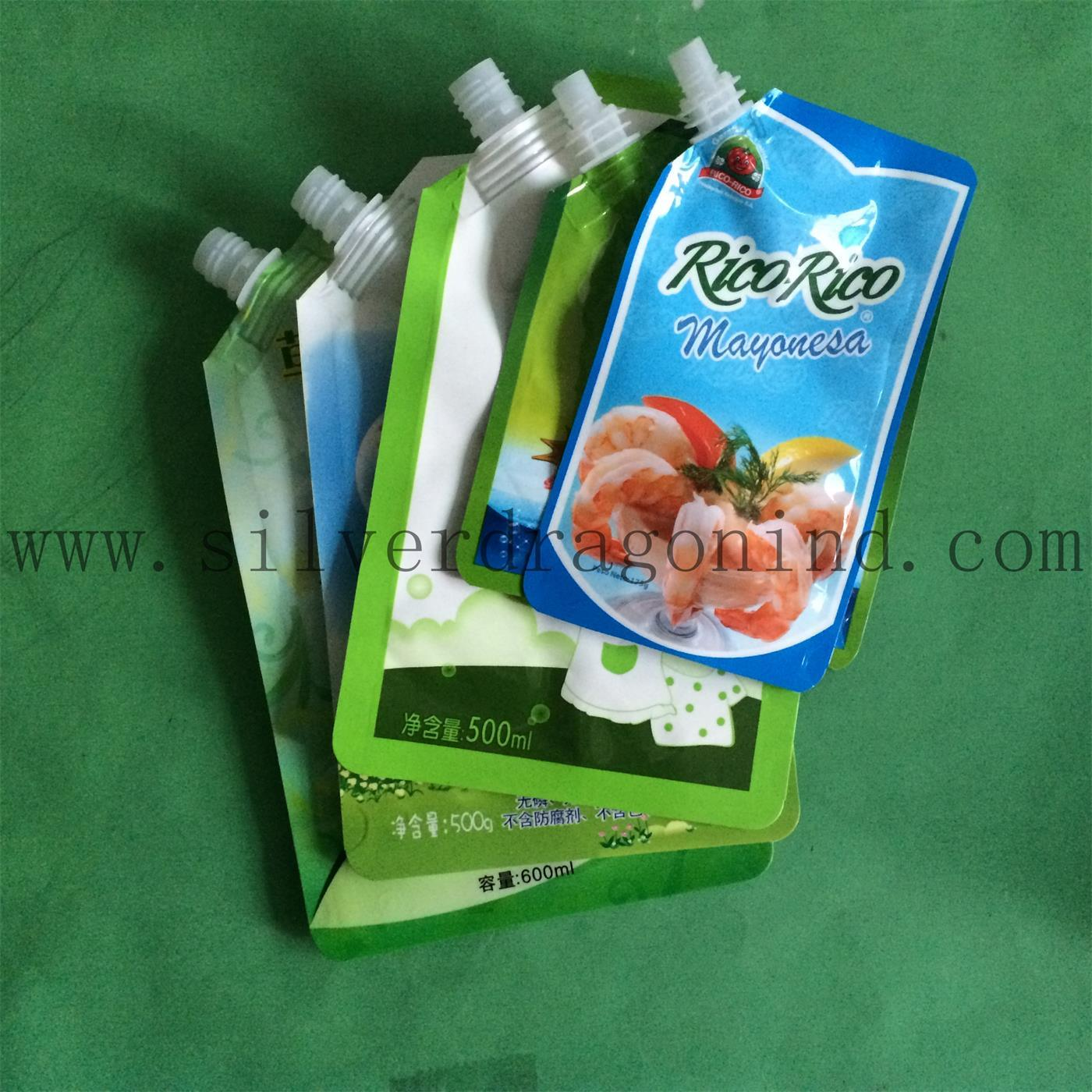 Stand up Plastic Pouch with Spout for 2L Washing Liquid