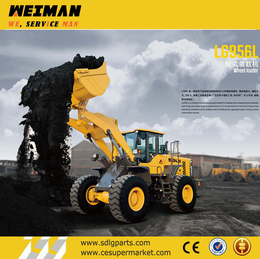 China Cosntruction Machinery Sdlg 5t Wheel Loader LG956L