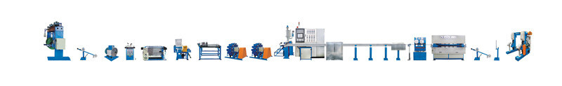 90mm Optical Fiber Cable Extrusion Machine and ADSS Production Line