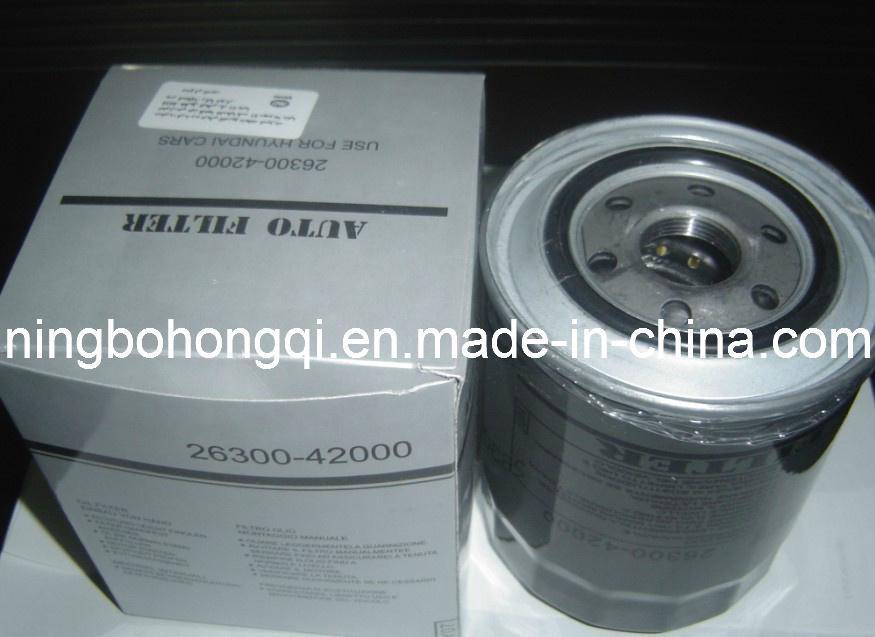 Auto Oil Filter for Hyundai 26300-42000