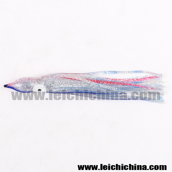 Chinese High Quality Luminous Soft Octopus Squid Skirt Fishing Lures