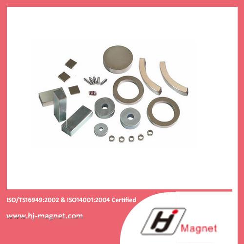 High N30-N35ah Ring Permanent NdFeB Neodymium Magnet for Motors and Industry