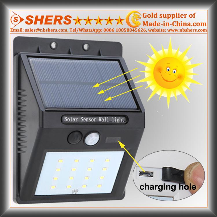 Solar Motion Wall Light with Adjustable Brightness, Dim Light Function