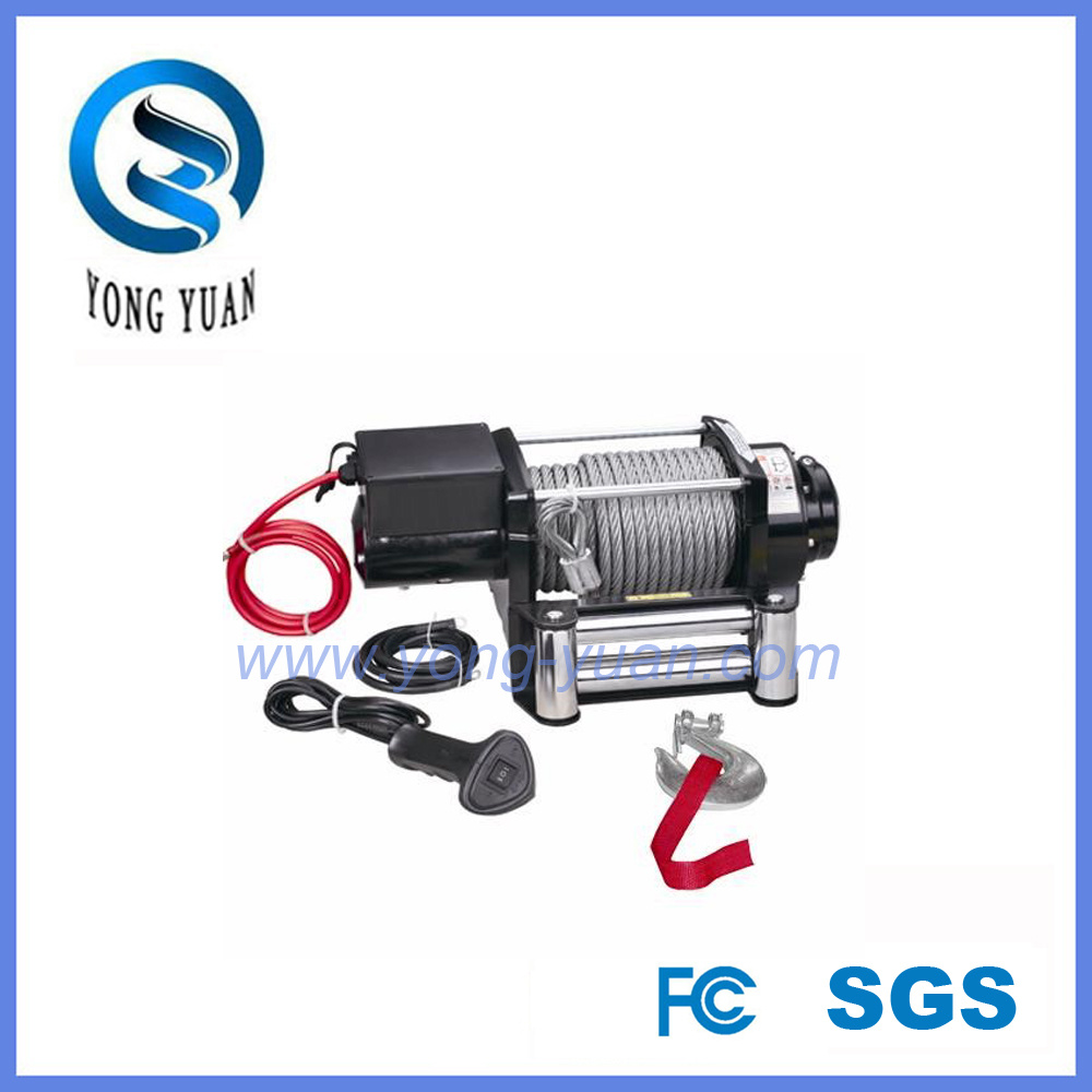 up-Down /Sliding Ring Gear/Synthetic Rope /Wire Rope DC 12V Heavy Duty Electric Winch (DH17000K)