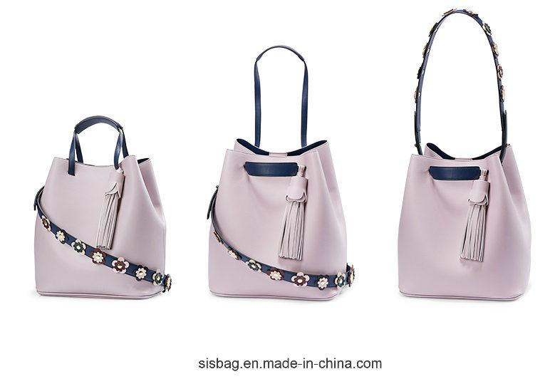 PU Tassel Shoulder Bag Flower Shoulder Strap Women Handbag