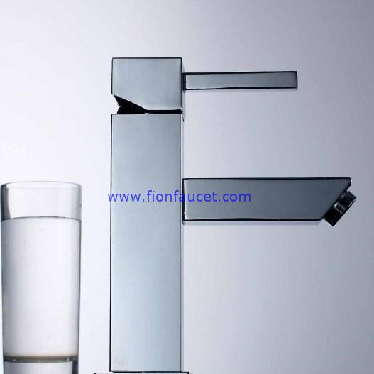 Square Single Lever Basin Mixer