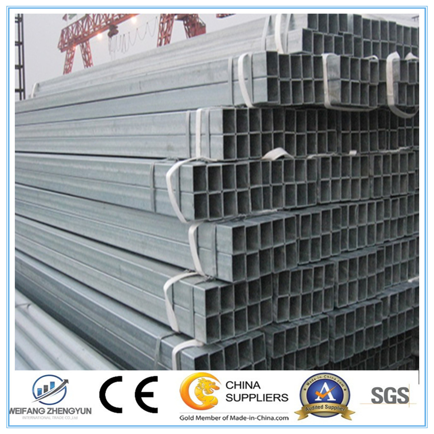Fence Post Galvanized Steel Pipe From China