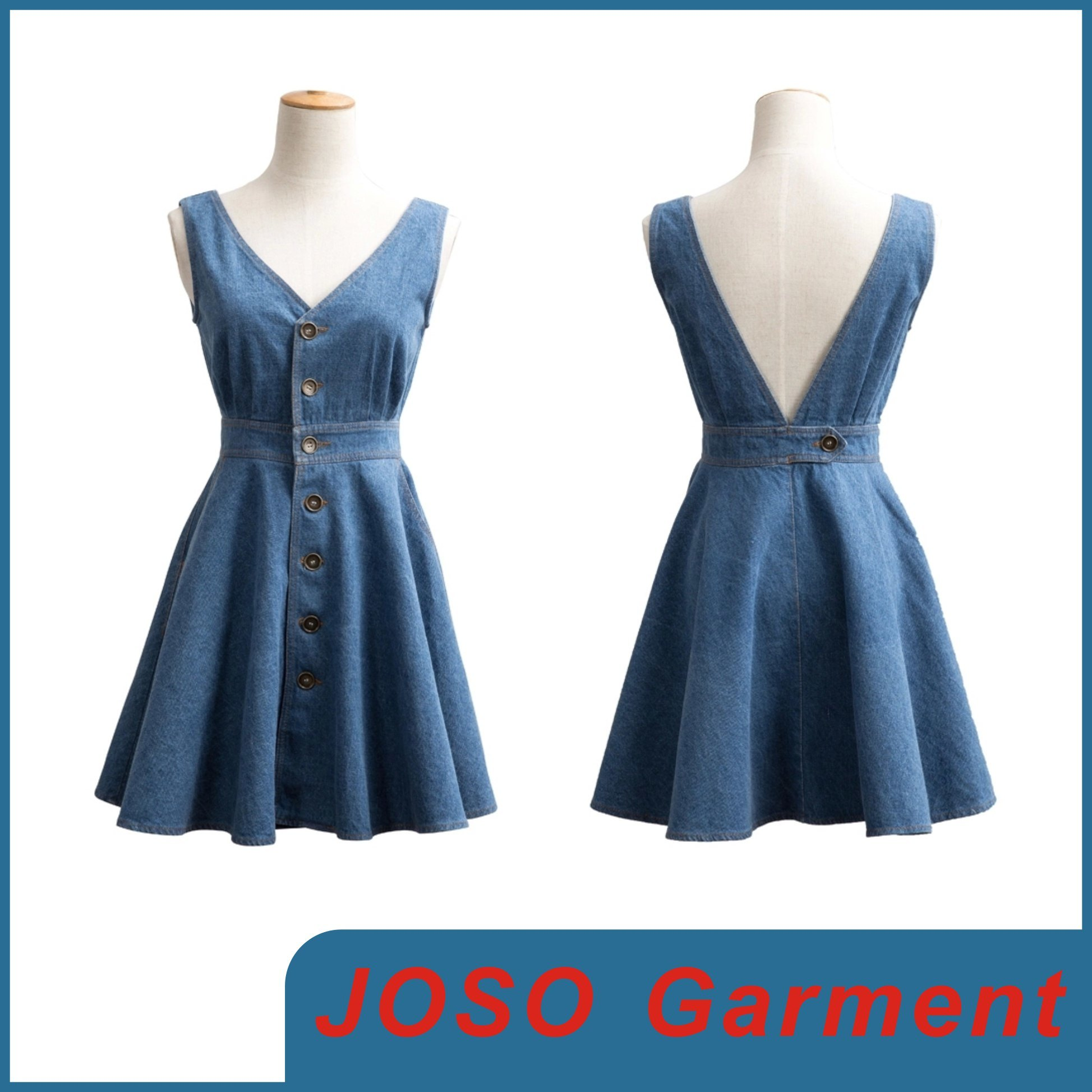 Lady Fashion Denim Dress (JC2034)