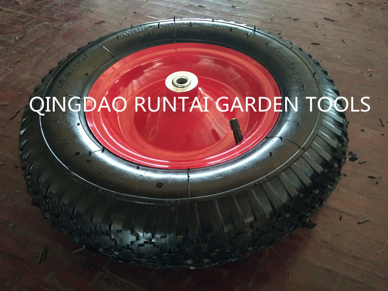 Qingdao Made Top Quality Cheap Pneumatic Rubber Wheel (4.80/4.00-8)