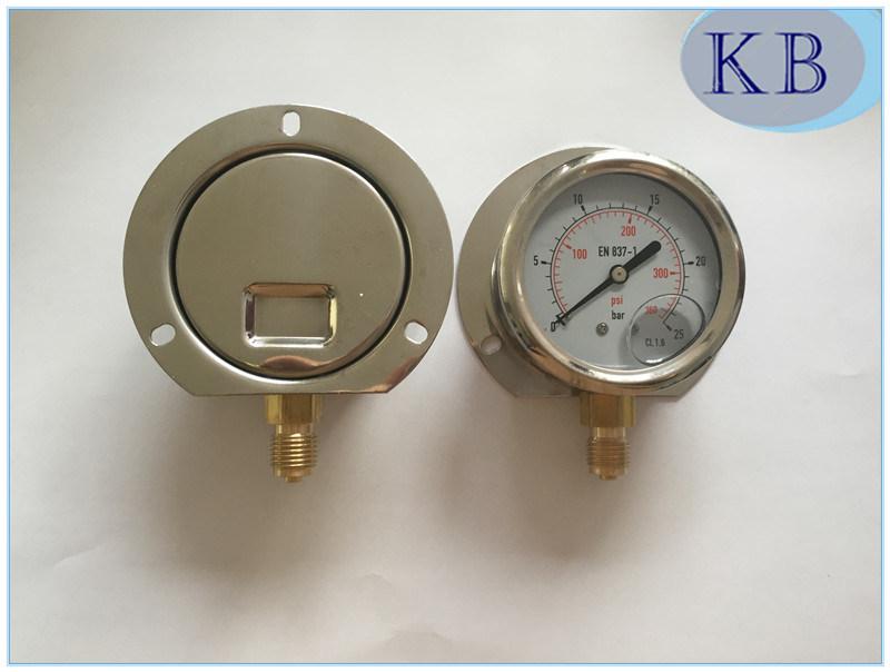 En837-1 Manometer with Glycerine Oil Filled Dia. 63mm