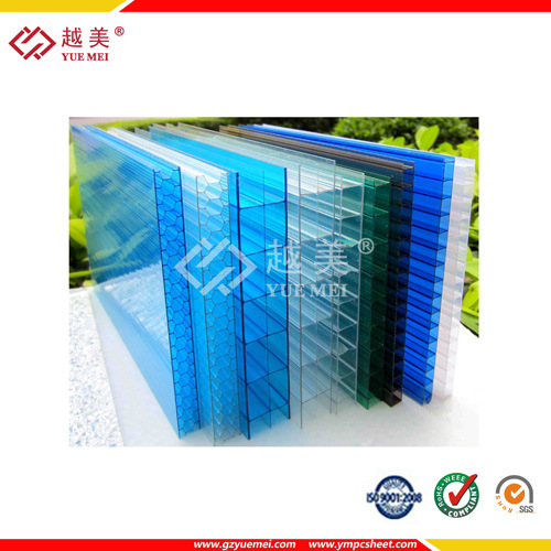 Double Color Daylighting Twin Wall Polycarbonate Sheet (YM-PC-149)