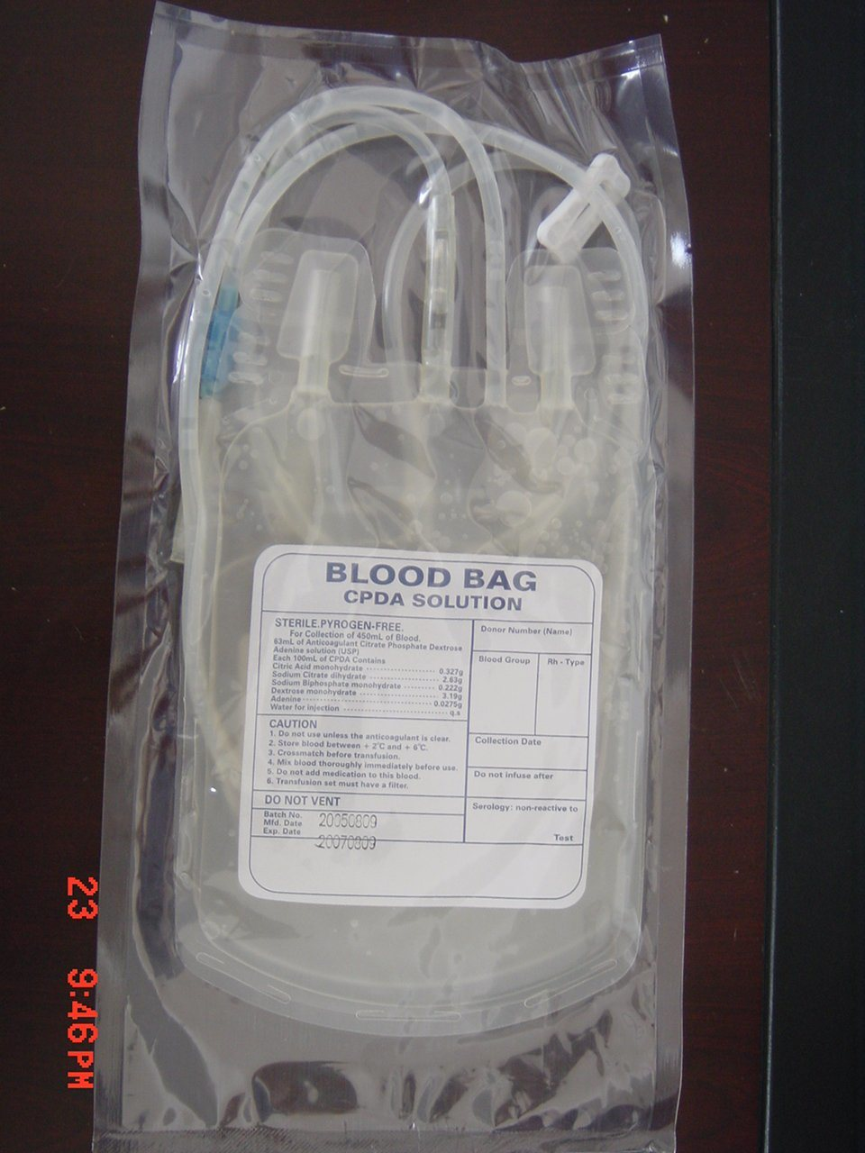 Single /Double/ Triple Blood Transfer Bag with Cpda-1 (welding film)