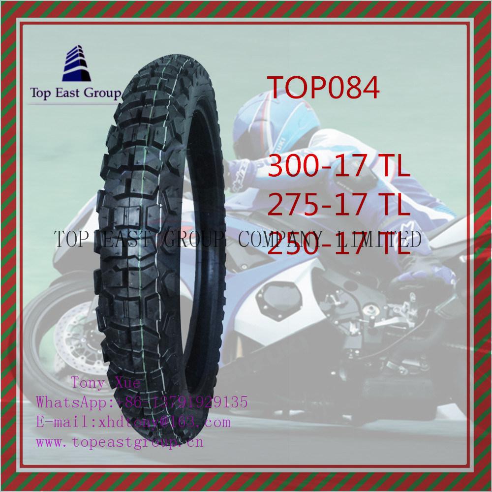 ISO Nylon 6pr Tubeless Motorcycle Tire 300-17tl, 275-17tl, 250-17tl