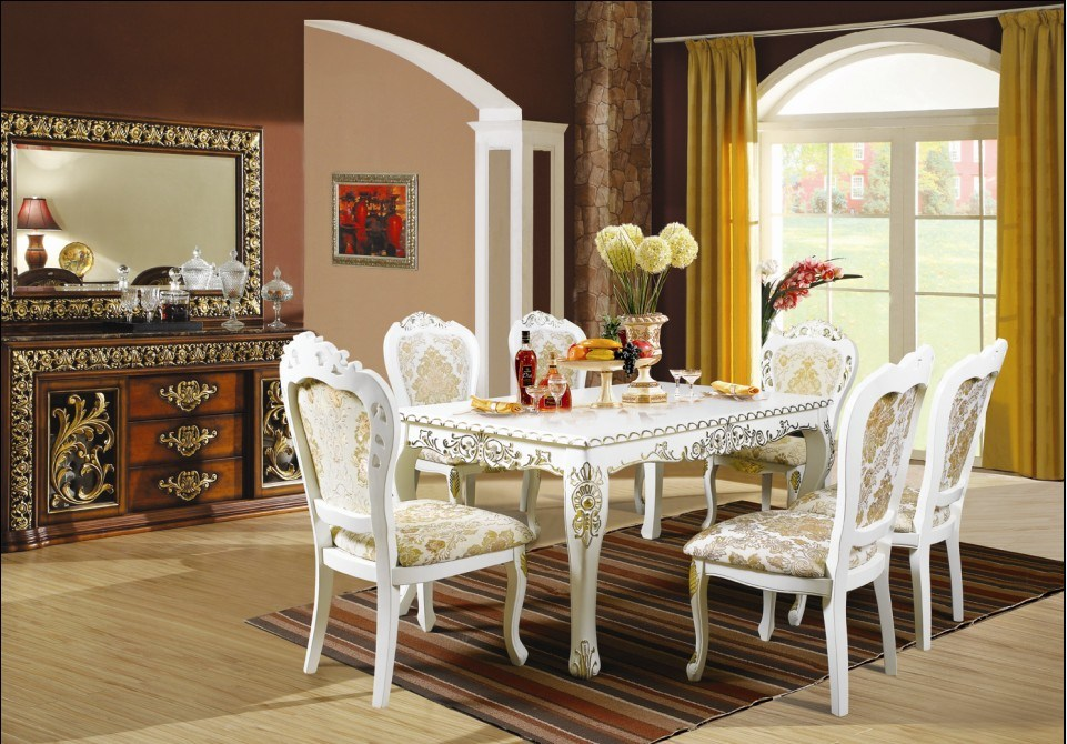 China Luxury Dining SetsEuropean Style Restaurant Furniture