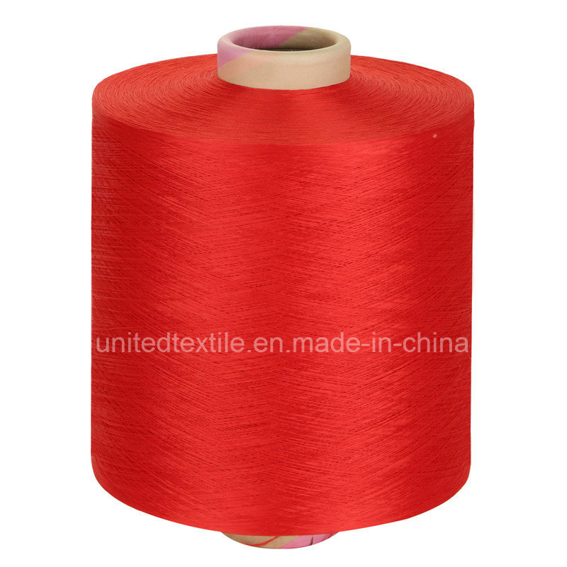 Polyester Dope Dyed Yarn (450d/192f Bright Trilobal Him) DTY