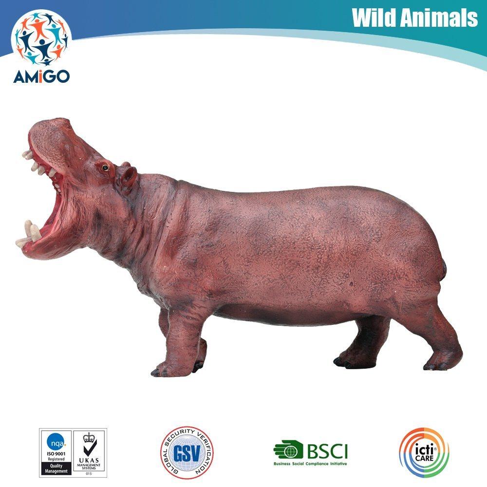 Promotional Custom Soft Plastic Hippo Vinyl Toy for Kids