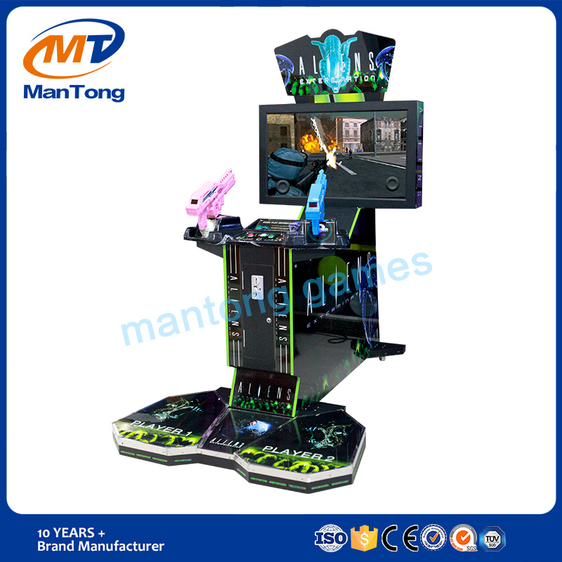 Hot Sale Aliens 2 Players Coin Operated Arcade Game Machine for Kids