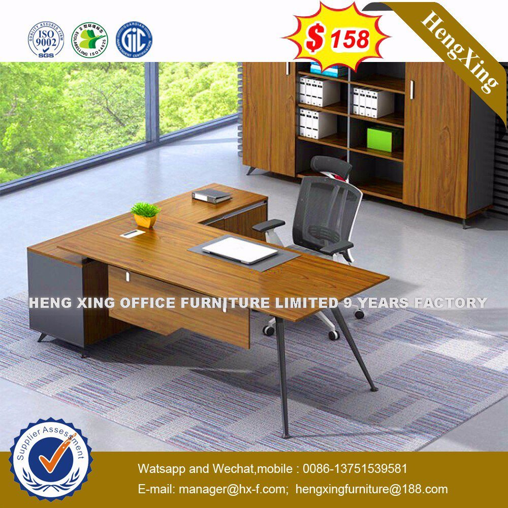 Modern MFC Laminated MDF Wooden Office Table (HX-8N1413)