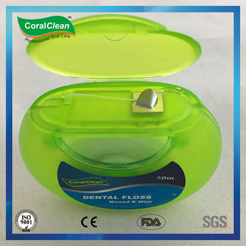 Round Shape Case Expanding Floss Dental Floss Waxed