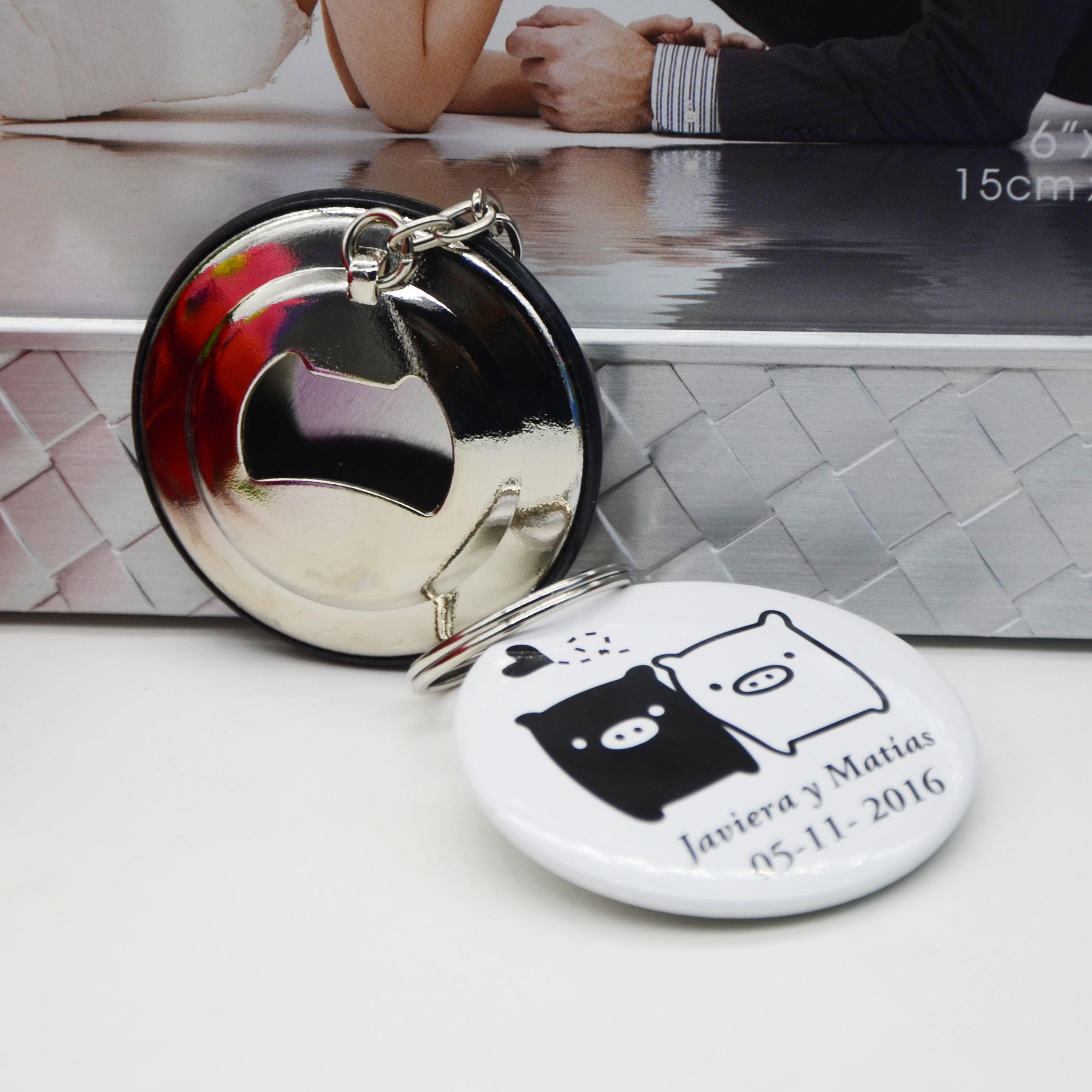 Factory Good Quality Custom Prints Logo Keychain Bottle Opener