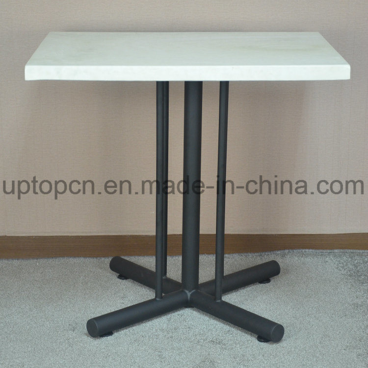 Restaurant Furniture Table with Special Longitudinal Stripes Cast Iron Leg (SP-RT480)