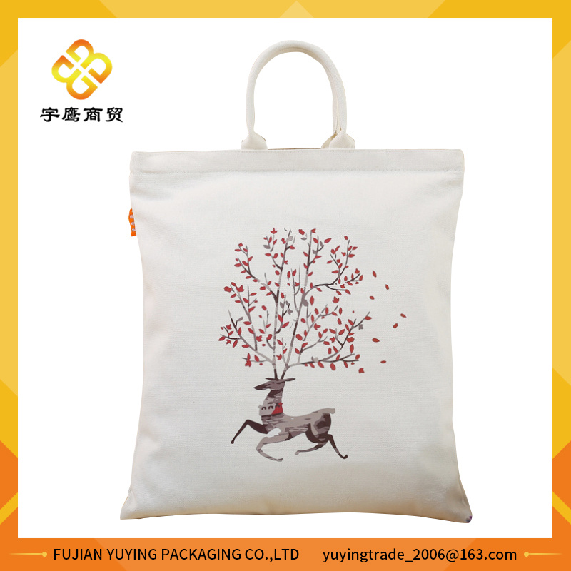 Customized Promotional Long Handle Cotton Bag