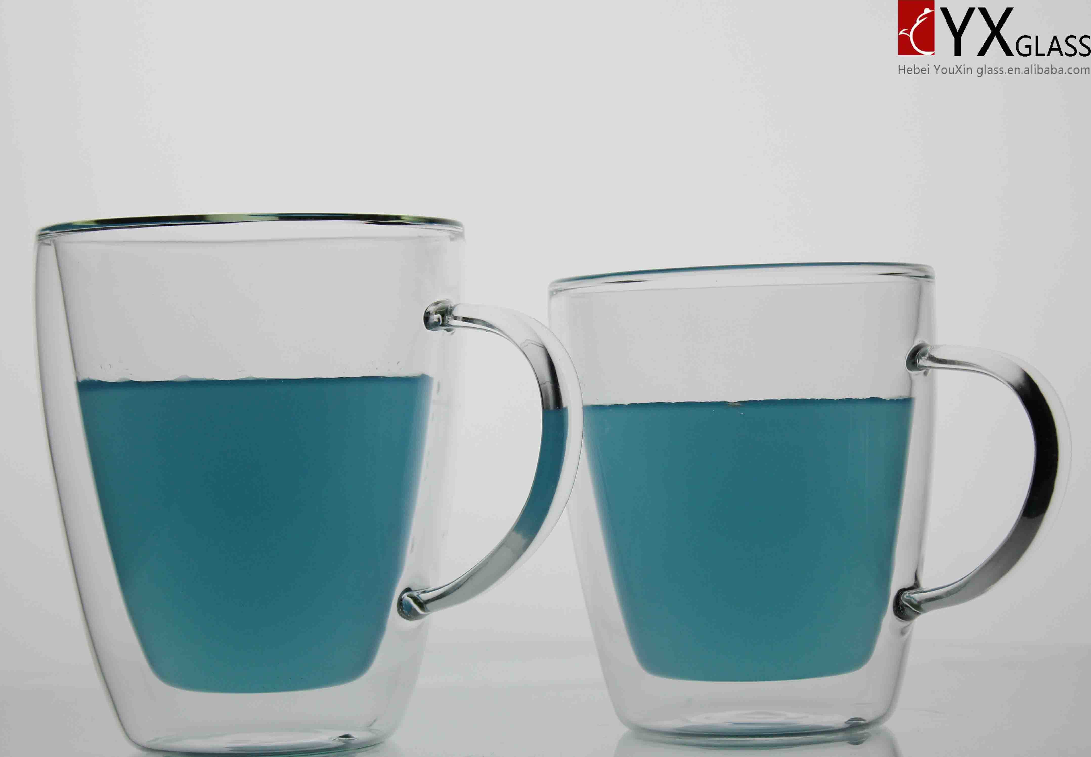 Double Wall Glass Coffee Cup/Double Wall Glass Coffee Mug/Double Wall Glass Tea Mug 350ml, 450ml, 500ml Available