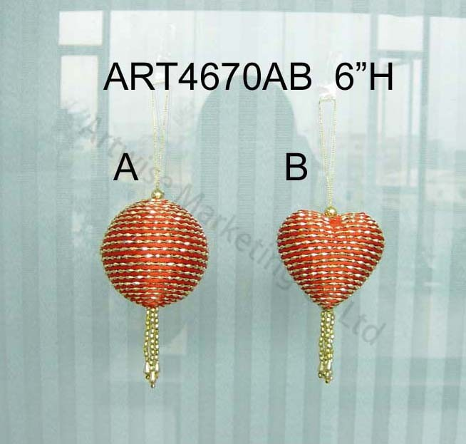 Christmas Tree Decoration Gift Balls-3asst