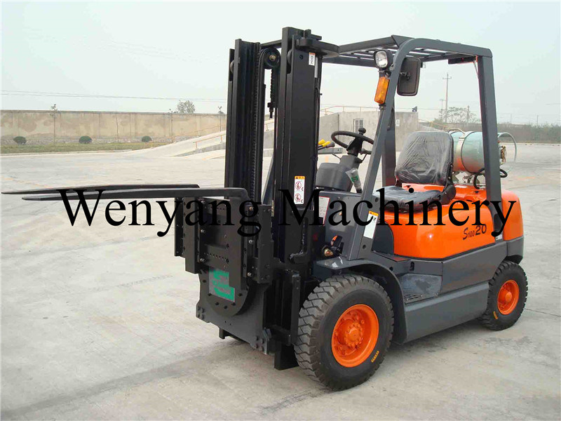 360 Degree Rotation Fork Forklift Attachment