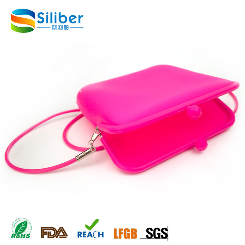 Square Shaped New Design Silicone Fashion Handbag for Ladies