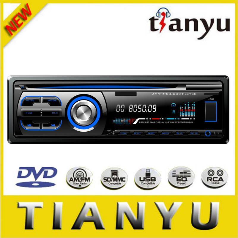 Single DIN Fixed Panel Car DVD 525