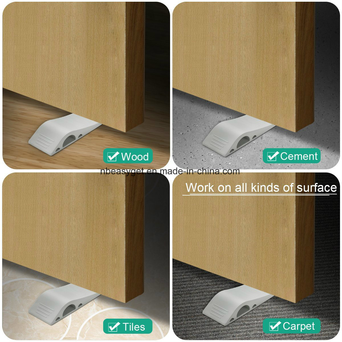 Door Stopper for Children, Door Wedge Rubber, Oria Door Stoppers-Premium Decorative Silicone Rubber Door Stop for Carpet, Cement, Wood and Tiles Floor Esg10162