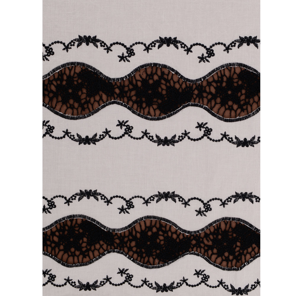 Water Soluble Cotton Swiss Voile Lace Fabric