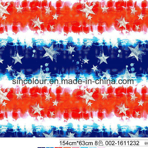 American Style Star&Stripe 80%Nylon 20%Spandex Printing Fabrics for Swimwear