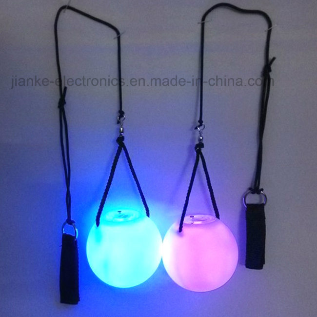 Super Popular LED Flashing Poi Ball with Multi-Color Light (3560)