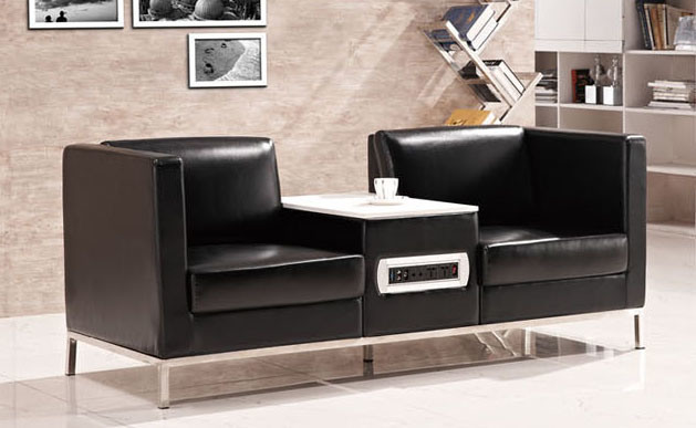 Modern Europe Design Steel Metal Leather Waiting Office Sofa (NS-S301)