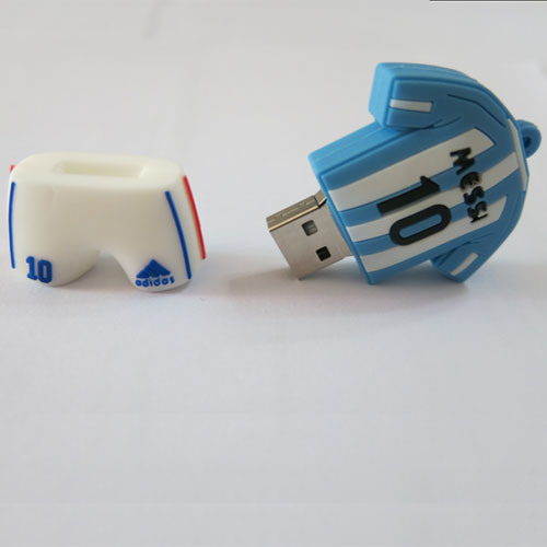 Number 10 Ball Clothes PVC USB Flash Drive Can Be Customized Logo 256GB