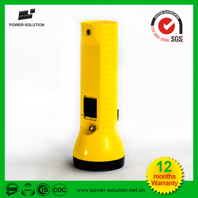 Handheld Multifunctional Rechargeable Solar LED Flashlight