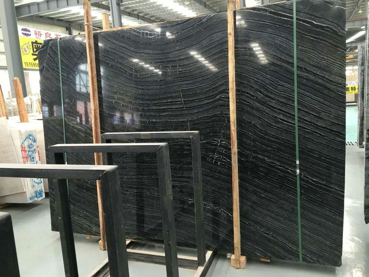 Black Wood Marble/Black Tree/Kenya Black/Black Marble/Wood Verin for Slab/Tile/Countertop/Vanity Top/Tabletop