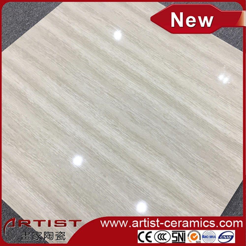Glossy Nano Polished Line Stone Double Loading Porcelain Floor Tiles