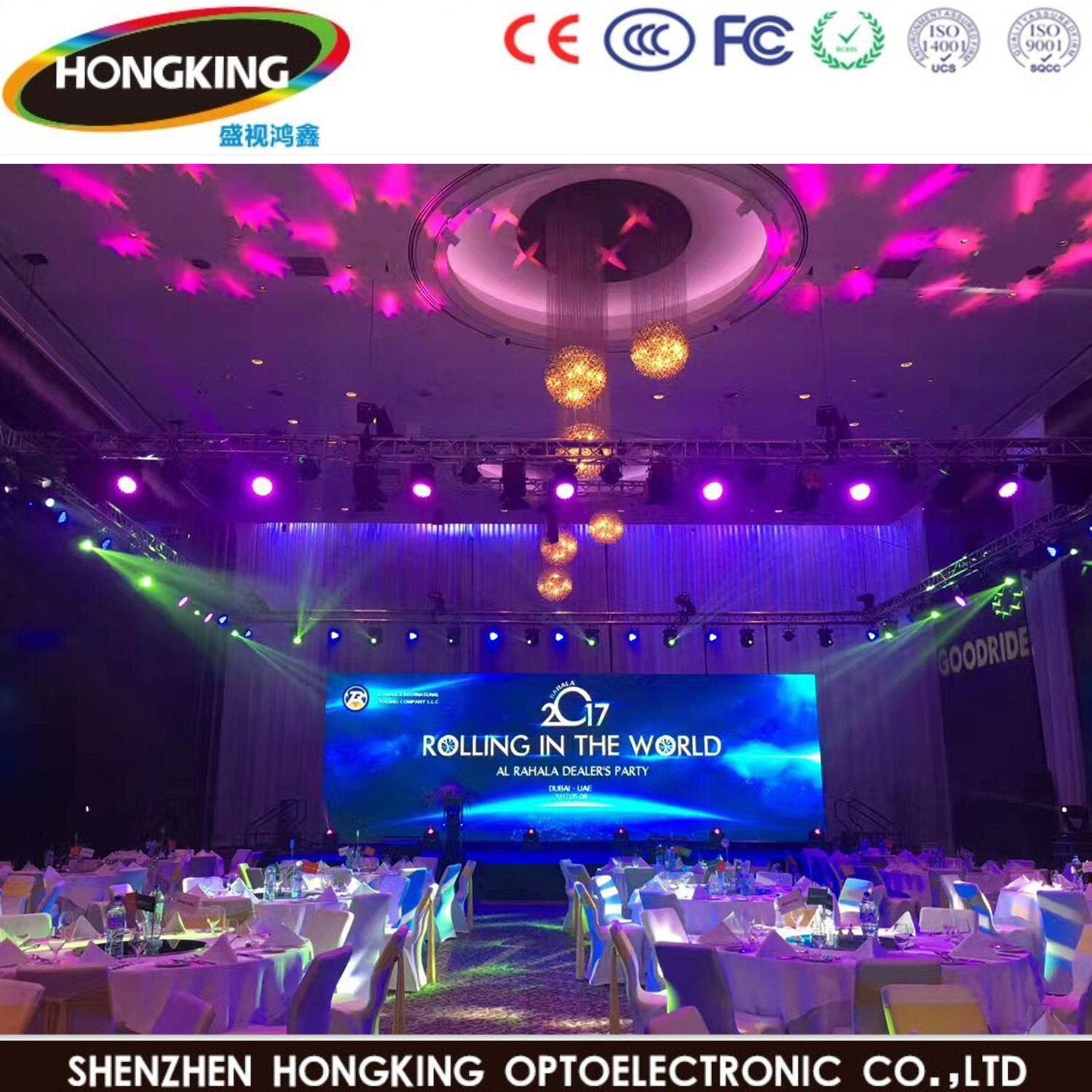 High Refresh P3.91 Indoor Full Color LED Screen Display